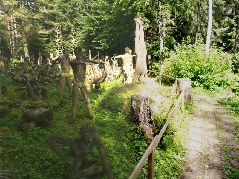 Панорама парка скульптур Patsaspuisto, Финляндия