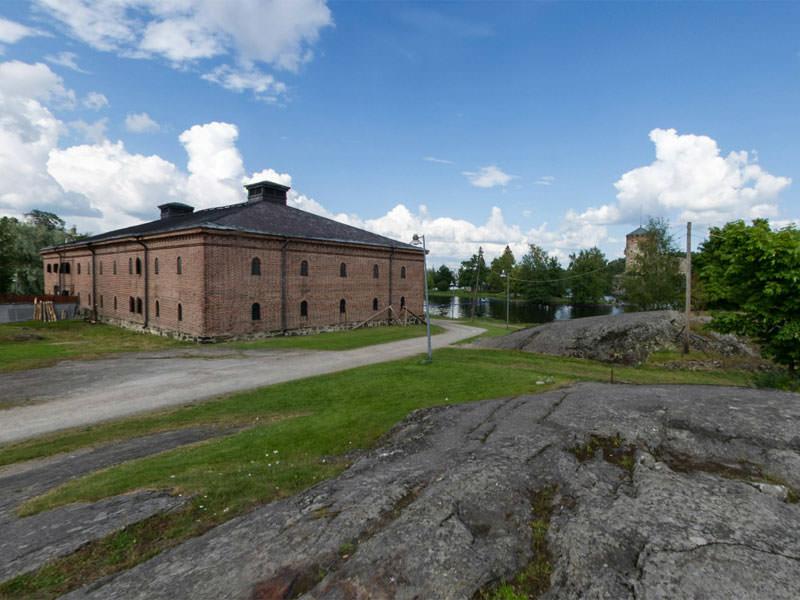Савонлинна, Финляндия. Панорама этнографического музея